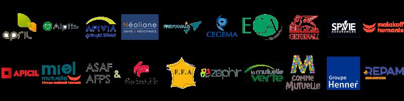 mosaique logos assureurs partenaires
