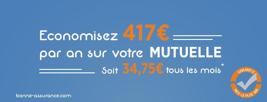34,75€ d'économies tous les mois sur votre mutuelle santé avec Bonne Assurance.