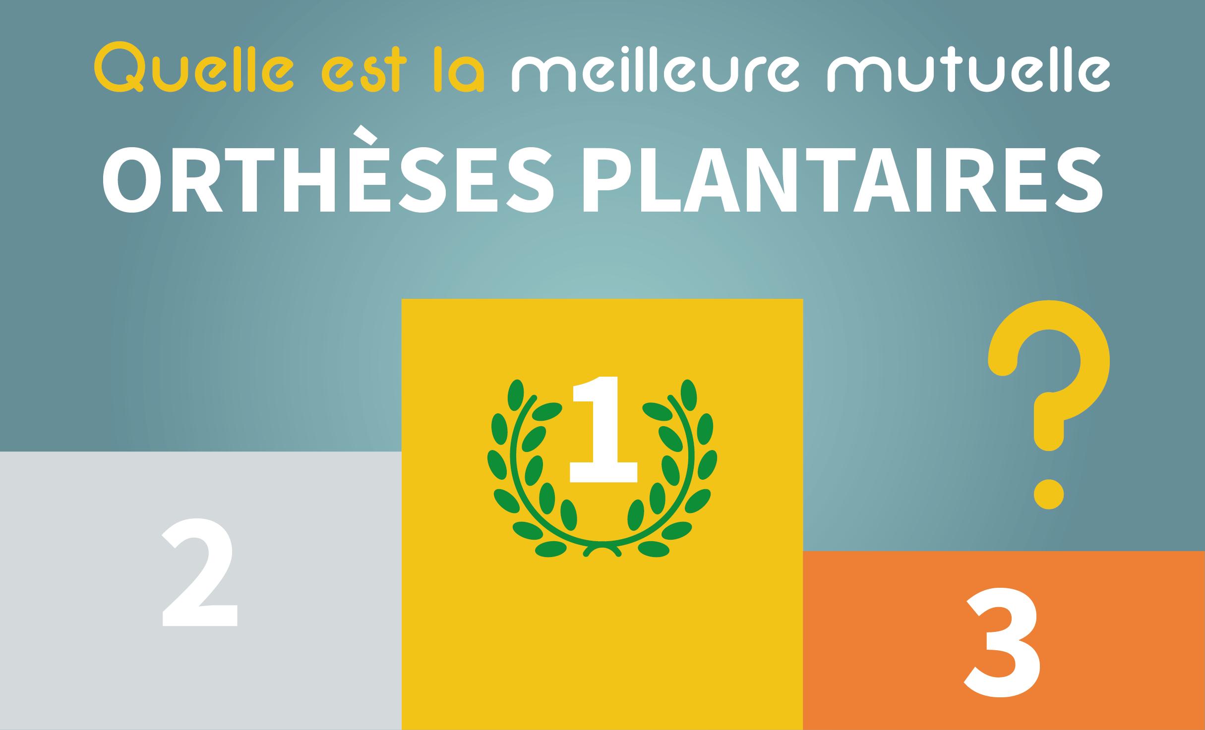 Faites votre propre classement des meilleures mutuelles pour les orthèses plantaires