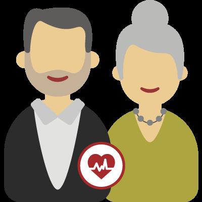 Couple de cinquantenaire (avec ALD)